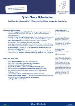 QuickCheck Sicherheiten