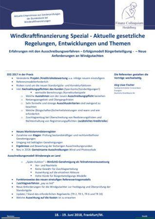 Windkraftfinanzierung Spezial Aktuelle gesetzliche Regelungen Entwicklungen und Themen