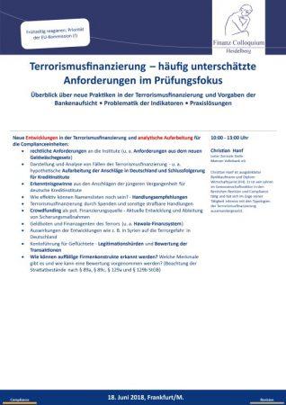 Terrorismusfinanzierung haeufig unterschaetzte Anforderungen im Pruefungsfokus