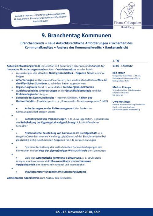 9 Branchentag Kommunen