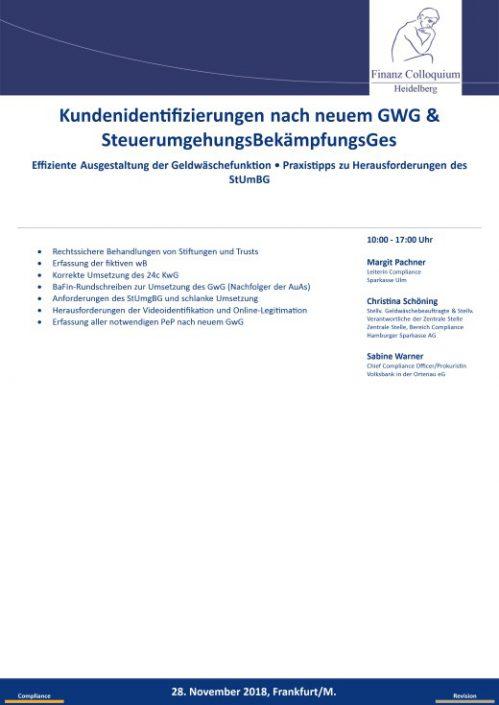 Kundenidentifizierungen nach neuem GWG SteuerumgehungsBekaempfungsGes
