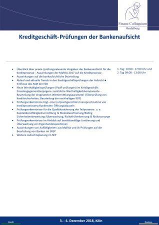 KreditgeschaeftPruefungen der Bankenaufsicht