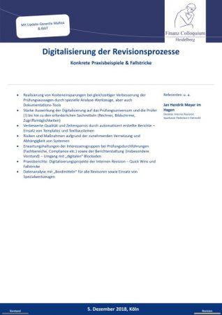 Digitalisierung der Revisionsprozesse