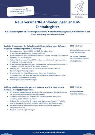 Neue verschaerfte Anforderungen an IDVZentralregister