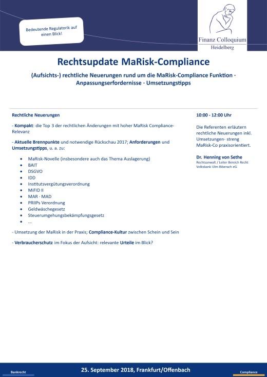 Rechtsupdate MaRiskCompliance