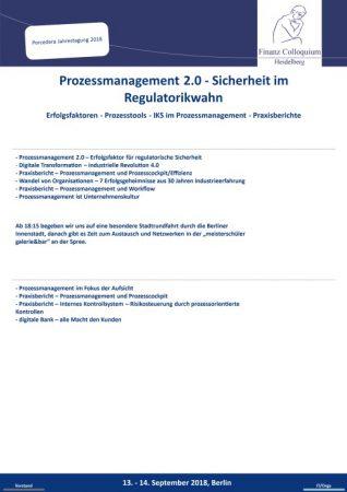 Prozessmanagement 20 Sicherheit im Regulatorikwahn