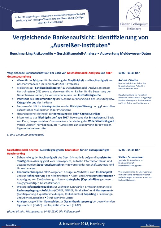 Vergleichende Bankenaufsicht Identifizierung von AusreierInstituten