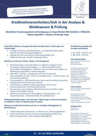 KreditnehmereinheitenGvK in der Analyse Meldewesen Pruefung