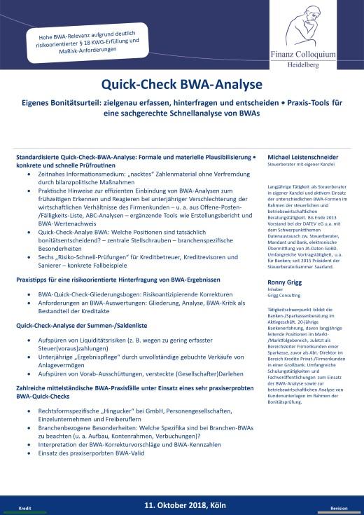 QuickCheck BWAAnalyse