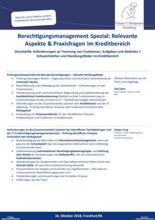 Berechtigungsmanagement Spezial Relevante Aspekte Praxisfragen im Kreditbereich