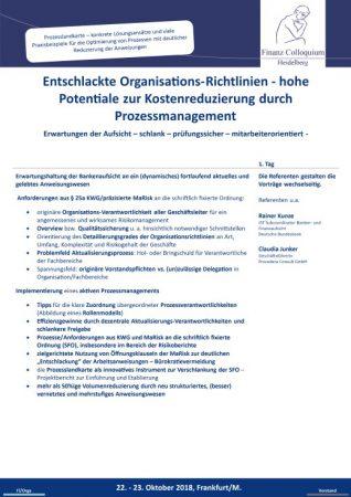 Entschlackte OrganisationsRichtlinien hohe Potentiale zur Kostenreduzierung durch Prozessmanagement