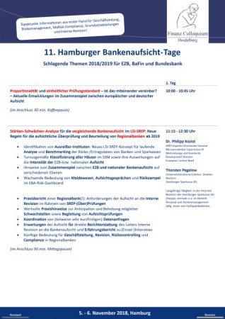11 Hamburger BankenaufsichtTage