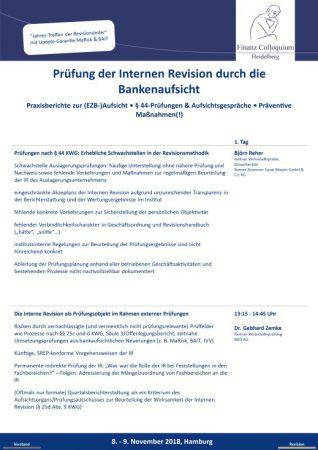 Pruefung der Internen Revision durch die Bankenaufsicht