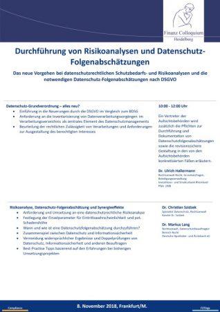 Durchfuehrung von Risikoanalysen und DatenschutzFolgenabschaetzungen
