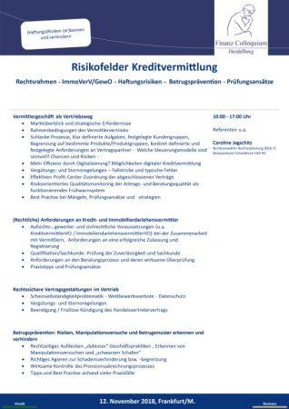 Risikofelder Kreditvermittlung