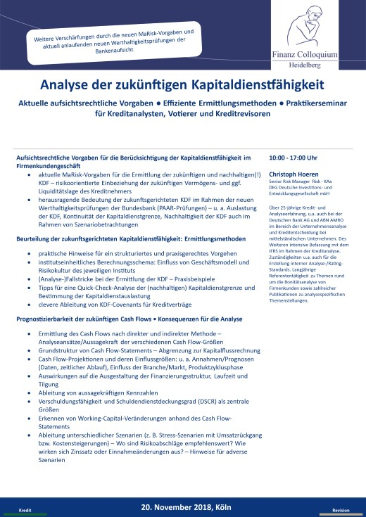 Analyse der zukuenftigen Kapitaldienstfaehigkeit