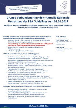 Gruppe Verbundener KundenAktuelle Nationale Umsetzung der EBA Guidelines zum 01012019