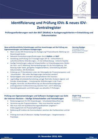 Identifizierung und Pruefung IDVs neues IDVZentralregister