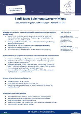 BaufiTage Beleihungswertermittlung