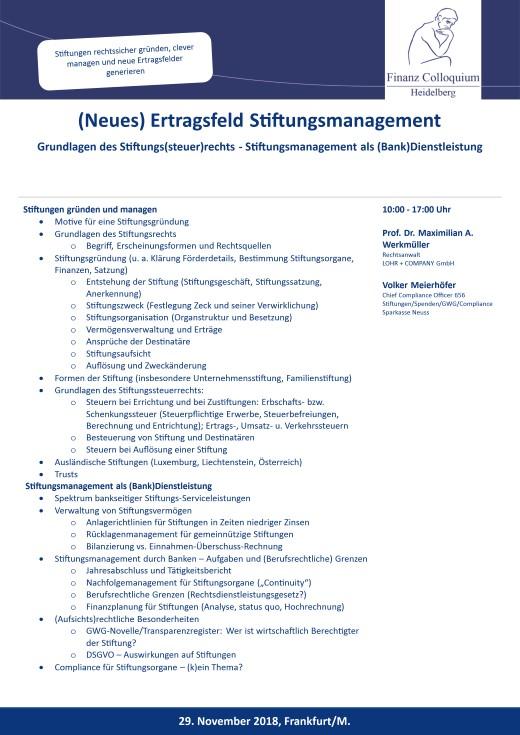 Neues Ertragsfeld Stiftungsmanagement