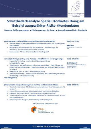 Schutzbedarfsanalyse Spezial Konkretes Doing am Beispiel ausgewaehlter RisikoKundendaten