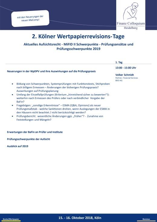 2 Koelner WertpapierrevisionsTage