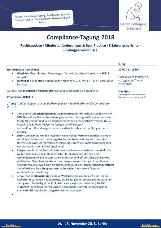 ComplianceTagung 2018