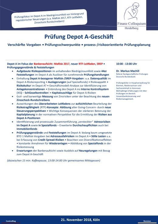 Pruefung Depot AGeschaeft