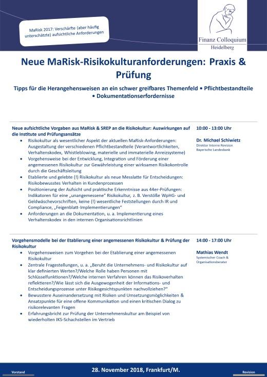 Neue MaRiskRisikokulturanforderungen Praxis Pruefung