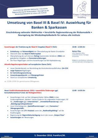 Umsetzung von Basel III Basel IV Auswirkung fuer Banken Sparkassen