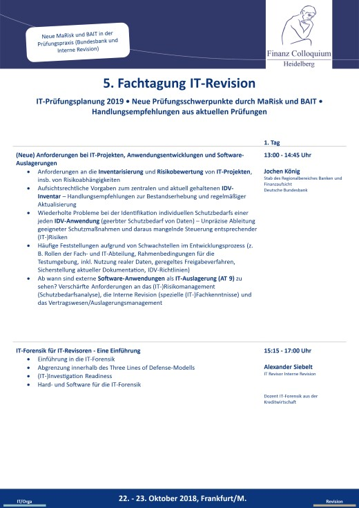 5 Fachtagung ITRevision