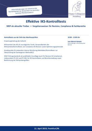Effektive IKSKontrolltests