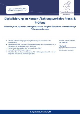 Digitalisierung im KontenZahlungsverkehr Praxis Pruefung