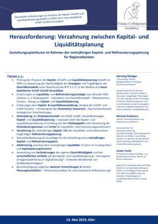 Herausforderung Verzahnung zwischen Kapital und Liquiditaetsplanung