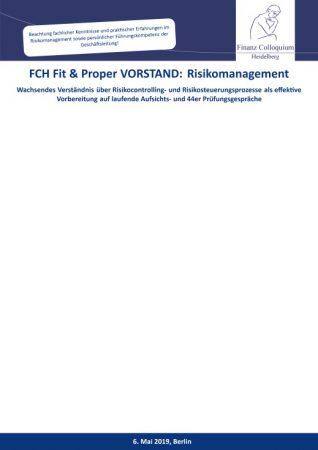 FCH Fit Proper VORSTAND Risikomanagement