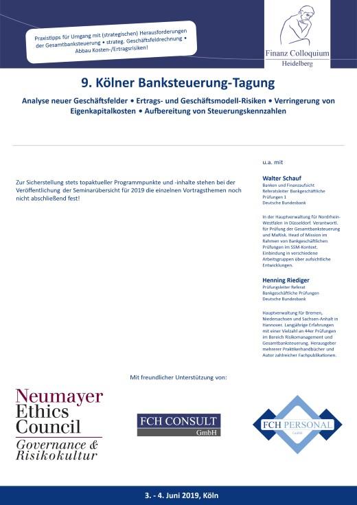 9 Koelner BanksteuerungTagung