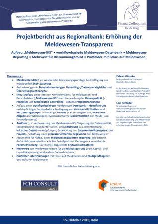 Projektbericht aus Regionalbank Erhoehung der MeldewesenTransparenz
