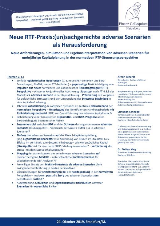 Neue RTFPraxisunsachgerechte adverse Szenarien als Herausforderung
