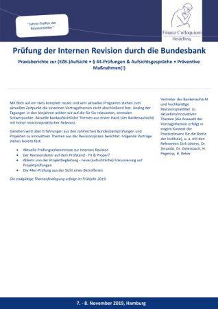 Pruefung der Internen Revision durch die Bundesbank