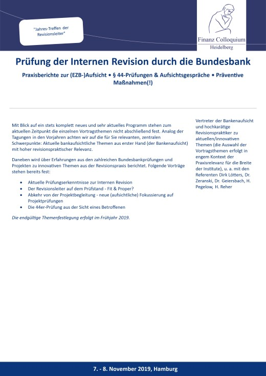 Pruefung der Internen Revision durch die Bundesbank