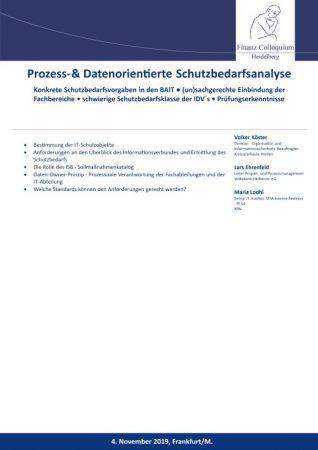 Prozess Datenorientierte Schutzbedarfsanalyse