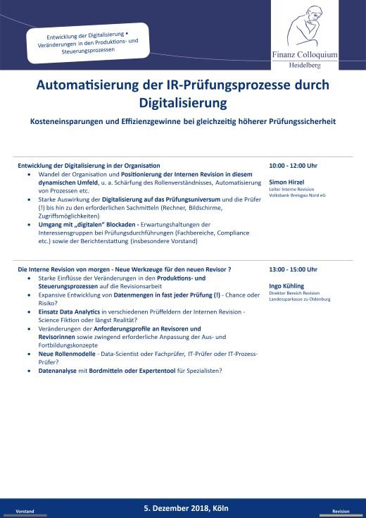 Automatisierung der IRPruefungsprozesse durch Digitalisierung