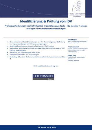 Identifizierung Pruefung von IDV