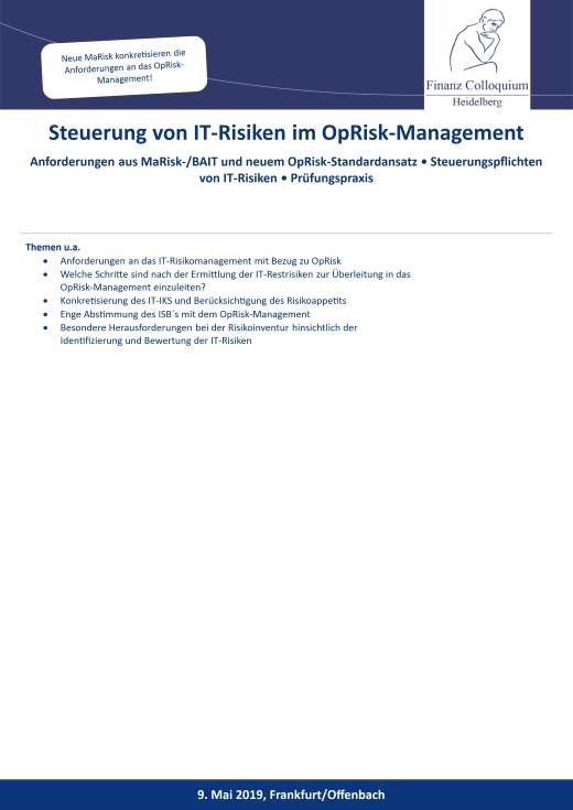 Steuerung von ITRisiken im OpRiskManagement