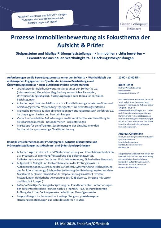 Prozesse Immobilienbewertung als Fokusthema der Aufsicht Pruefer
