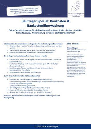 Bautraeger Spezial Baukosten Baukostenueberwachung