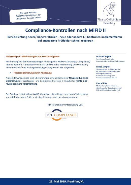 ComplianceKontrollen nach MiFID II