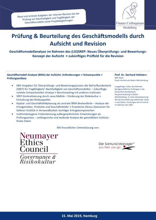 Pruefung Beurteilung des Geschaeftsmodells durch Aufsicht und Revision