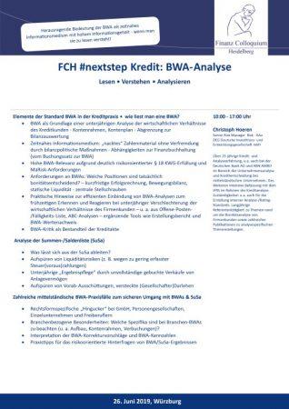 FCH nextstep Kredit BWAAnalyse