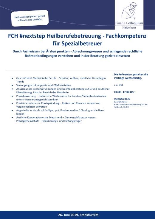 FCH nextstep Heilberufebetreuung Fachkompetenz fuer Spezialbetreuer